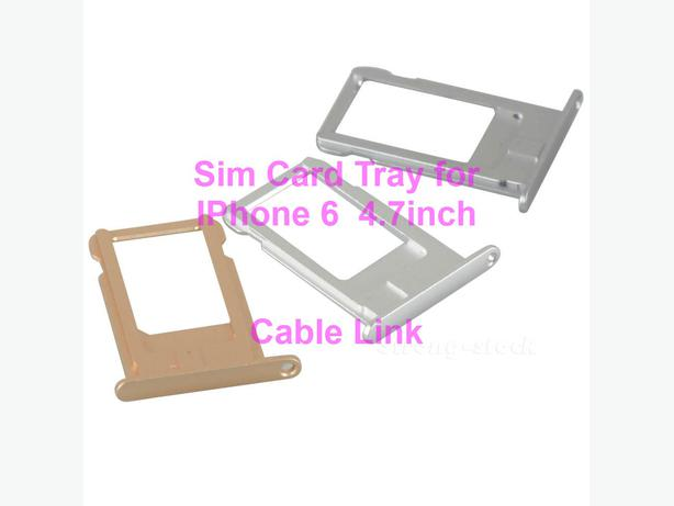 Sim Card Tray for IPhone 6 Plus 4.7 inch (Multi-Color available