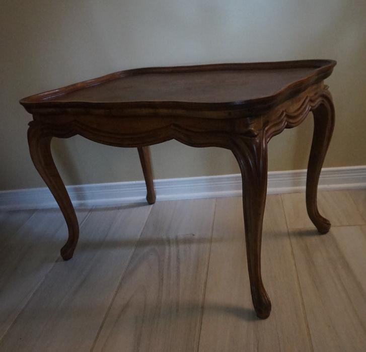 4u2c Vintage Solid Wood Furniture End Table With Cabriole Legs Gloucester Ottawa