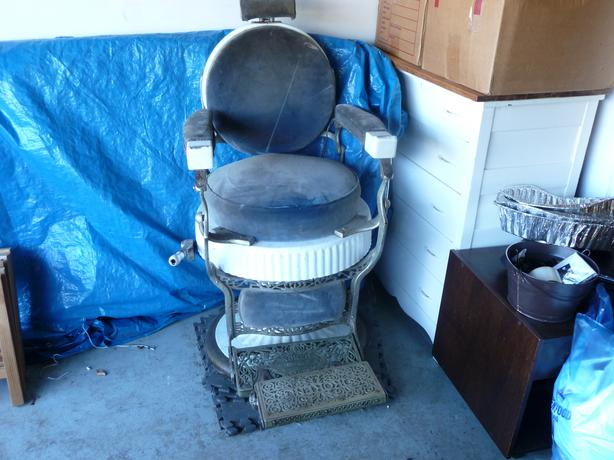 Man Cave Barber Orleans : Koken antique barber chair central nanaimo parksville