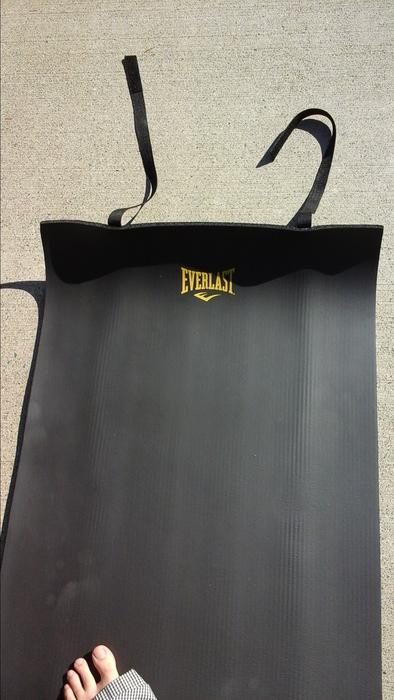 Black Roll Up Everlast 2 X 6 Foam Exercise And Yoga Mat