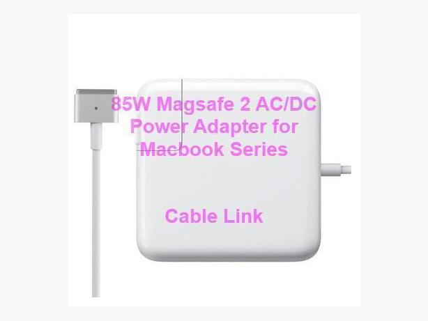 85W MagSafe 2 Power Adapter Charger for MacBook Pro A1424 A1398