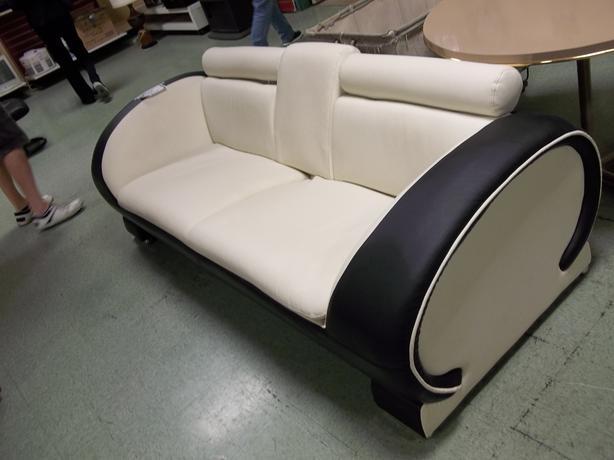 Black & White Leather Sofa - SVDP, Yates St Victoria City ...