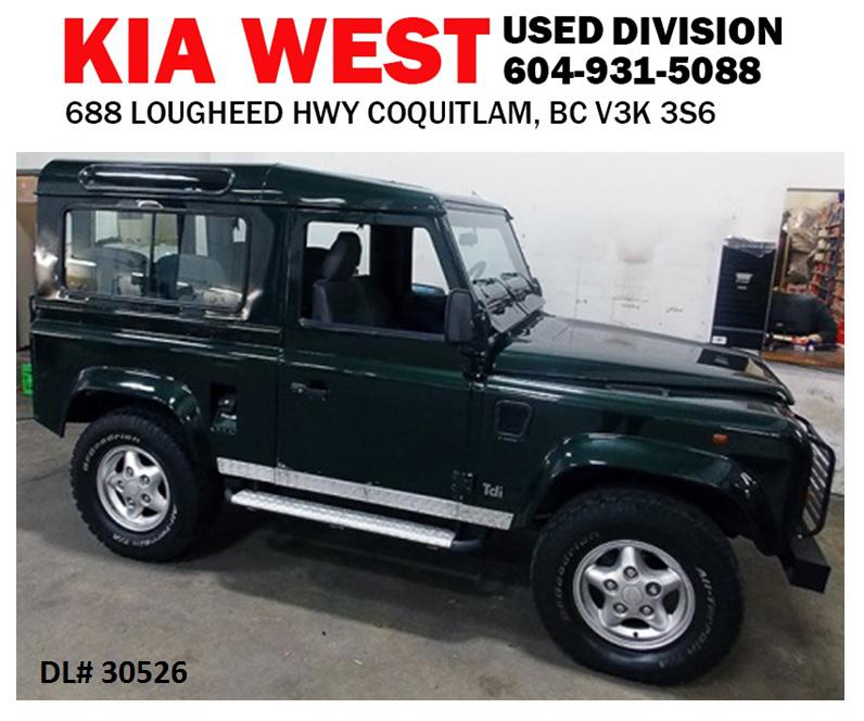 1998 Land Rover Defender 90 Coquitlam (incl. Port