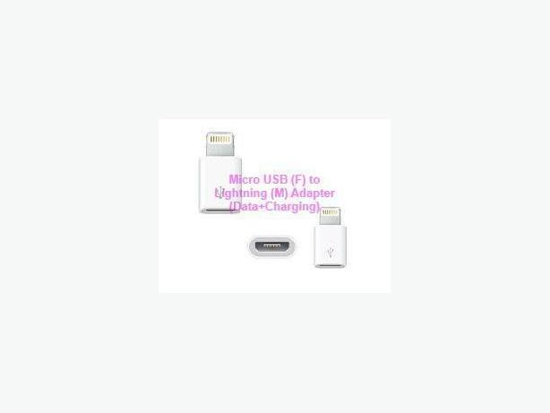 Micro USB(F) to Lightning 8 Pin(M) 2 in 1 Adapter(Date+Charging)