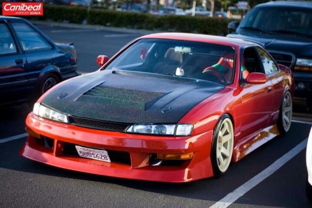 S14 Kouki Carbon D Max D1 Spec Vented Hood Outside