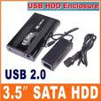 "New Portable 3.5"" 500GB SATA HDD with USB 2.0 Enclosure"