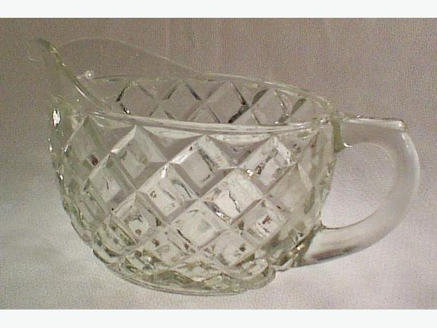 Anchor Hocking Waterford-Clear creamer