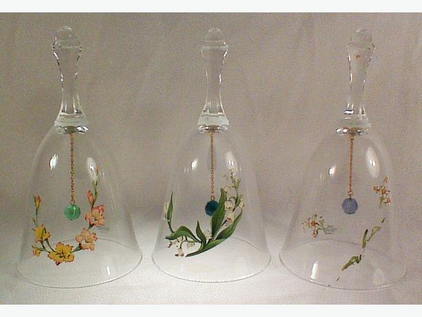 Avon lead crystal bells