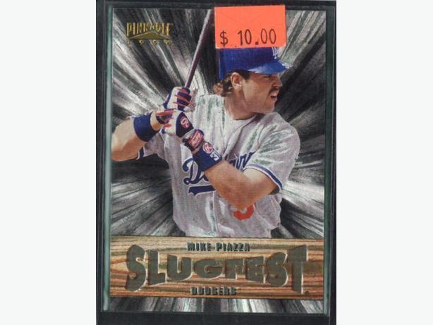 1996 Pinnacle Slugfest #7 Mike Piazza Los Angeles Dodgers
