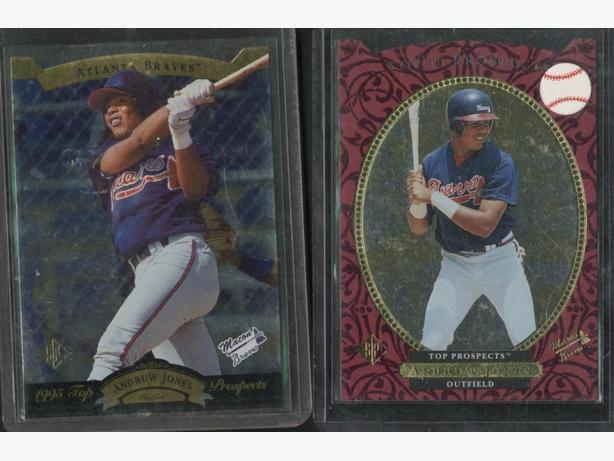 2 Andruw Jones Cards Braves