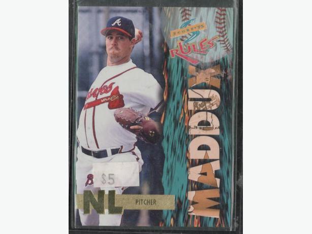 1995 Score Rules Greg Maddux Braves