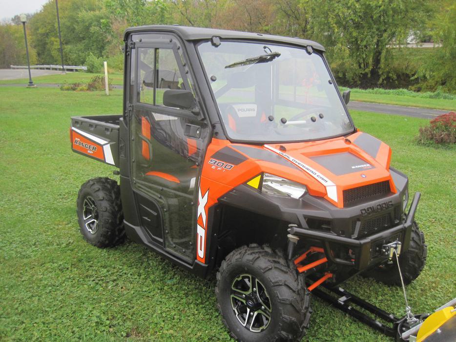 2013 Polaris Ranger 900 Xp L E Efi 4x4 Cab Plow Winch