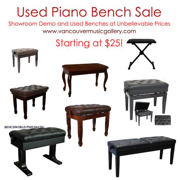 Beautiful Adjustable Leather Piano Bench North Vancouver Vancouver