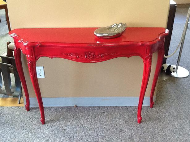 Superieur Antique Painted RED Hall Table