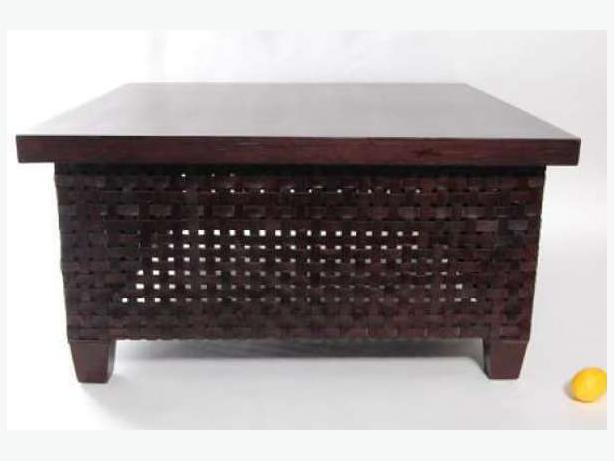Large Square Leather Woven Coffee Table Victoria City Victoria