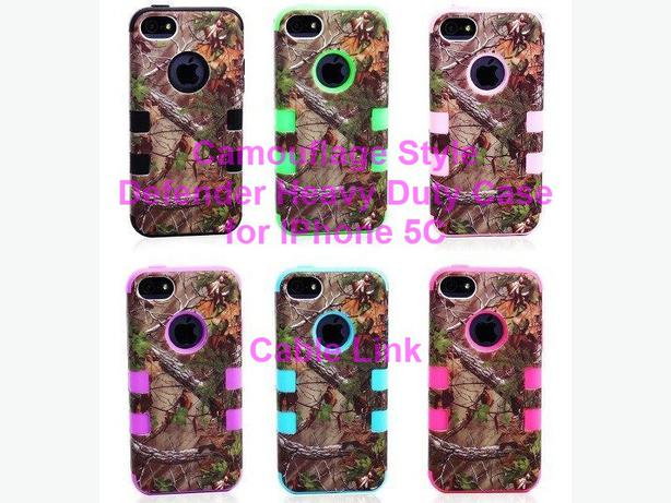 case for iphone new camouflage defender style hybrid for iphone 5c 3083