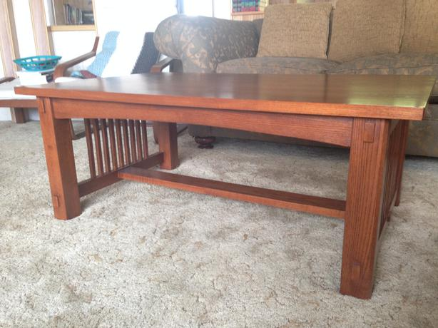 Craftsman Style Coffee Table And Side Table West Shore Langford Colwood Metchosin Highlands