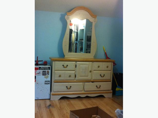 Kathy Ireland Princess Bouquet Solid Wood Dresser Mirror