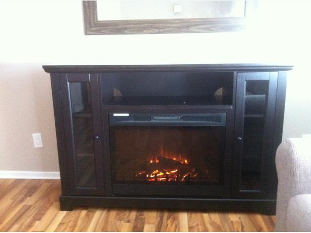stand white fireplace media ecdl with wall info electric corner heater fir insert wash regarding console