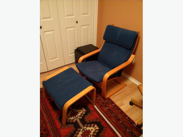 Ikea Trofast Unit Measurements ~ Ikea Poang Chair and Ottoman Saanich, Victoria  MOBILE