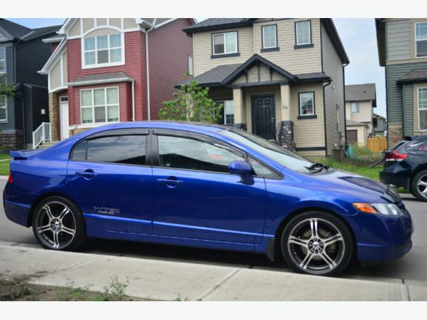 2008 honda civic si 2 0l vtec fiji blue north west calgary. Black Bedroom Furniture Sets. Home Design Ideas