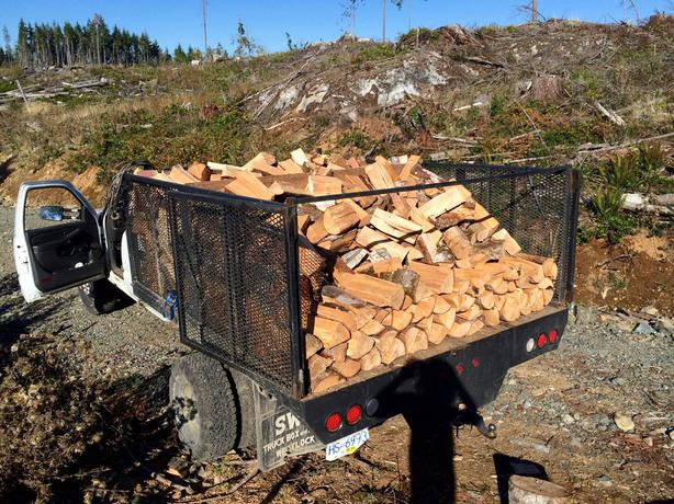 Firewood full cord delivered west shore langford