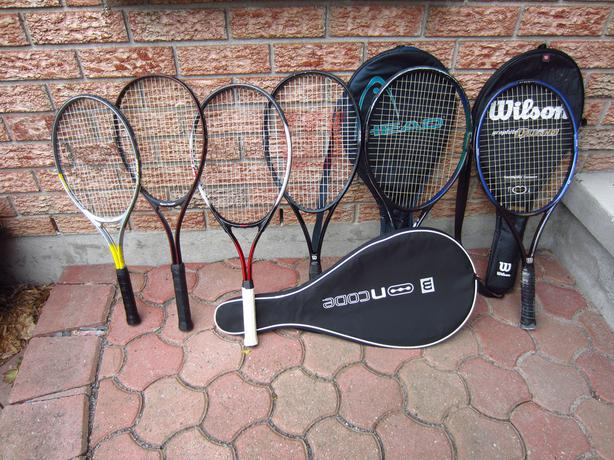Quality Wilson, Voit and Sportek Adult and Child Tennis Raquets