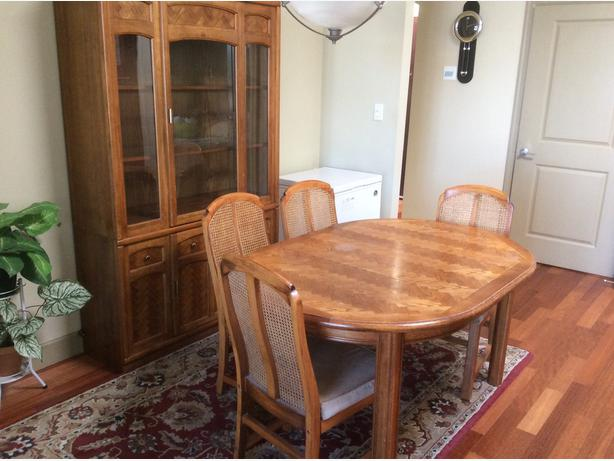 oak dining table and china cabinet victoria city victoria