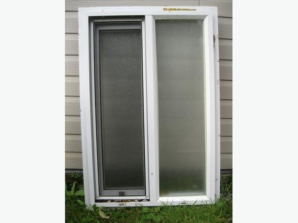 Two Aluminum windows, used