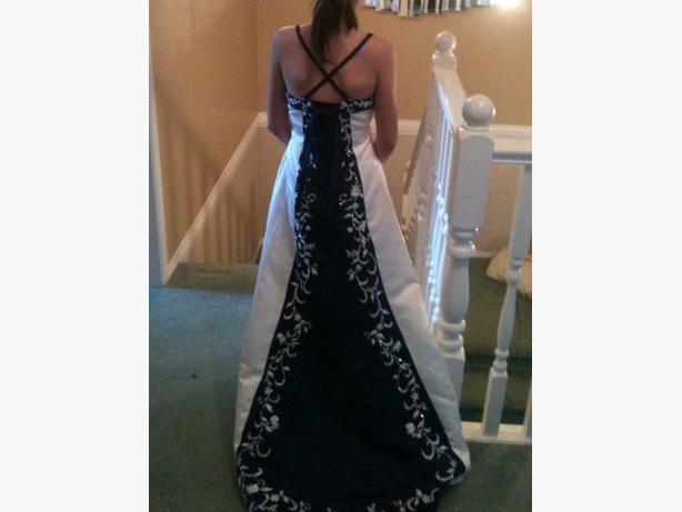 Navy Blue & White Dress