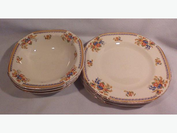 Maddock Royal Cameronian bowls and plates