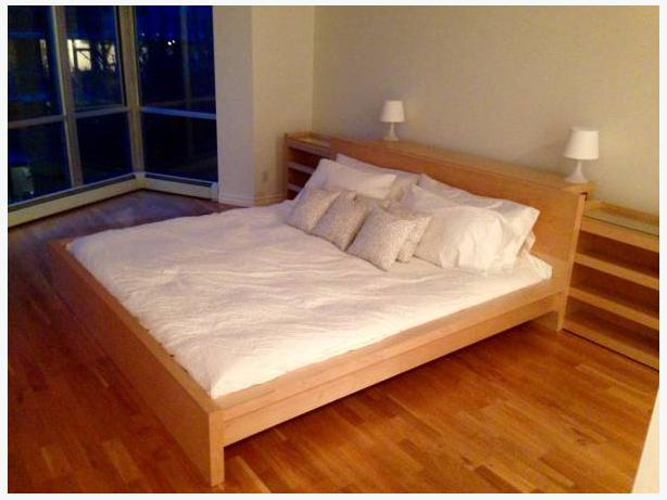 Ikea malm king size bed frame with storage victoria city for Ikea malm storage headboard