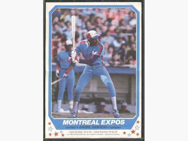 1982 O Pee Chee Andre Dawson Montreal Expos Mini Poster