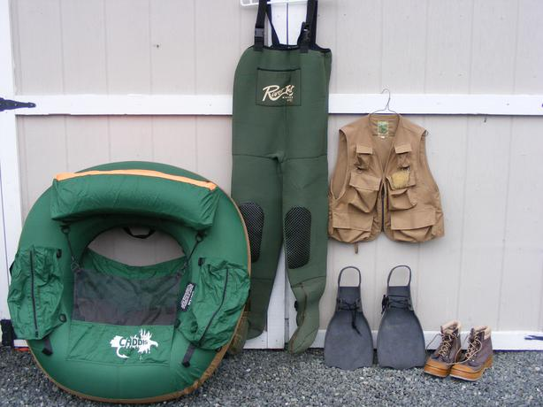 Caddis belly boat flyfishing gear price reduced for for Used fly fishing gear for sale