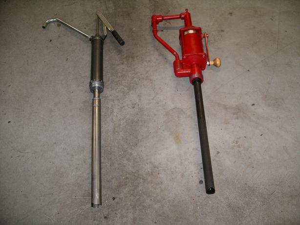 2- 45Gal. Barrel Pumps