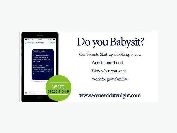 DateNight Needs BabySitters Like You