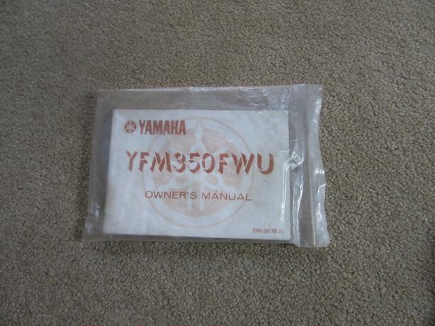 Yamaha Big Bear 350 owners manual YFM350