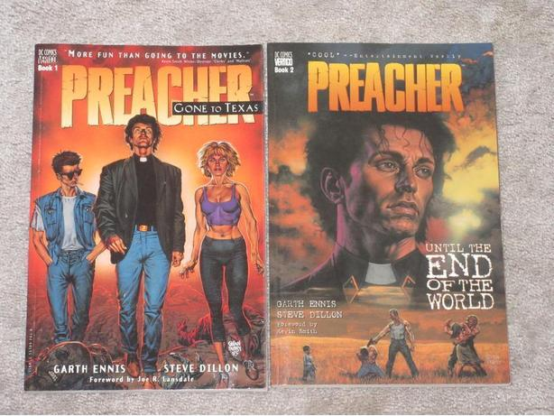 Preacher graphic novels Book 1 and 2