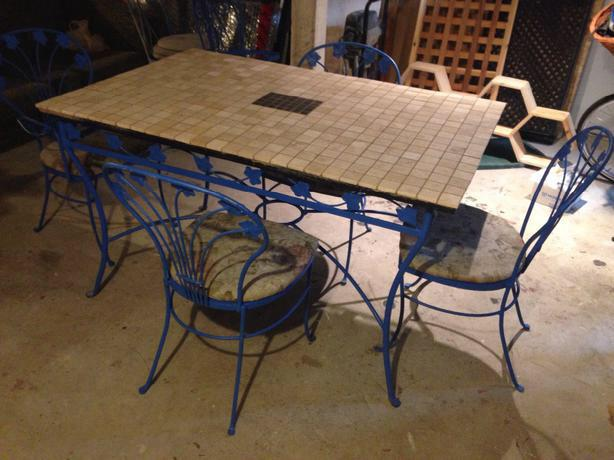 wrought iron patio table and chairs city