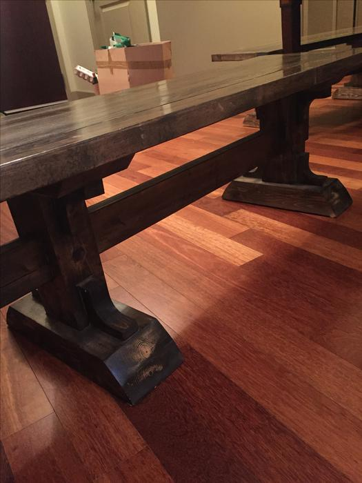 Large Table With Two Hand Made Seabreeze Furniture Benches Saanich Victoria