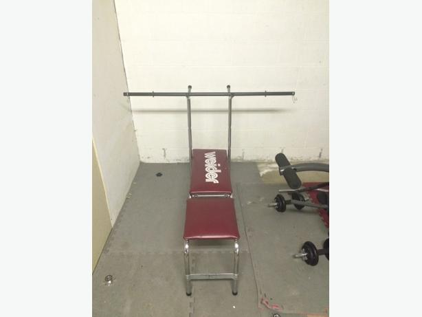 reduced weider bench press with bar outside victoria
