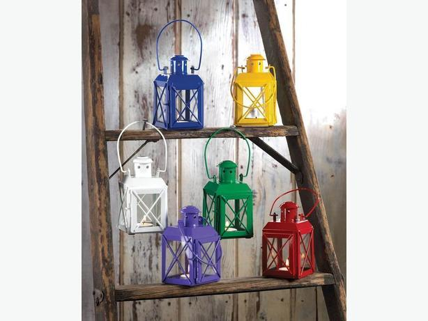 Indoor Outdoor Railway Candleholder Lantern Lamps 6 Lot Assorted Colors Choice