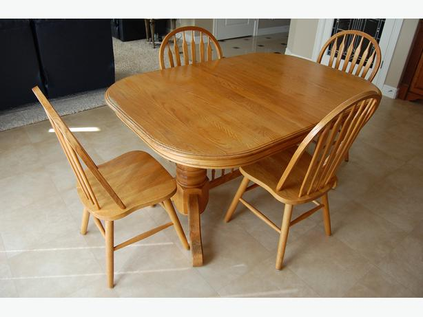 log in needed 375 solid oak dining room table and chairs