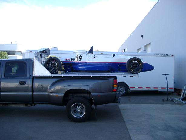 Custom Race Car / Sled truck bed carrier