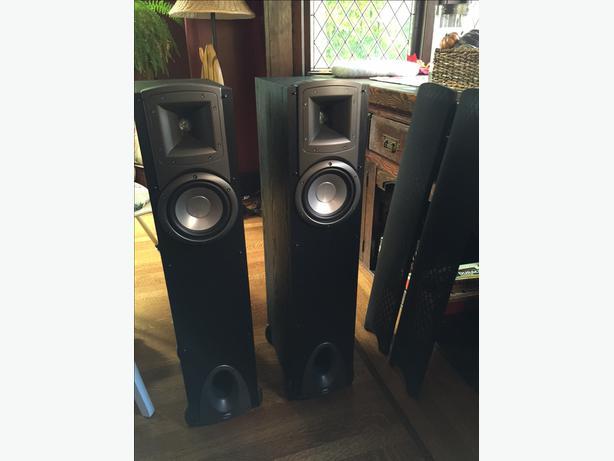 Two Klipsch Quot Synergy F1 Quot 100 Watt Floor Speakers For 150