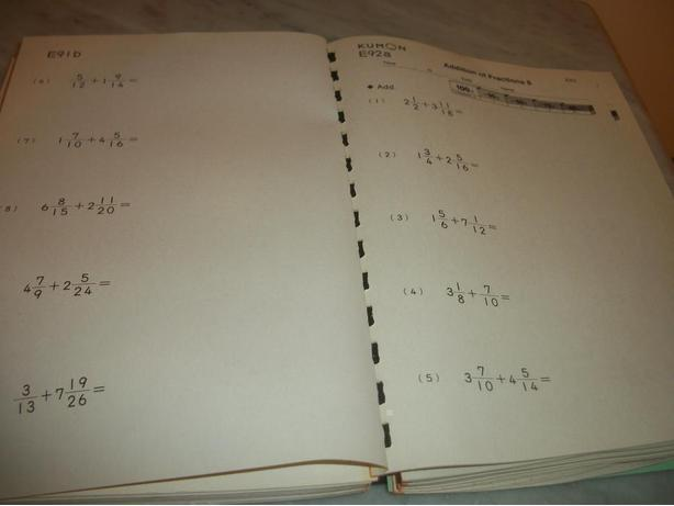 Bound Book of Fractions Practice