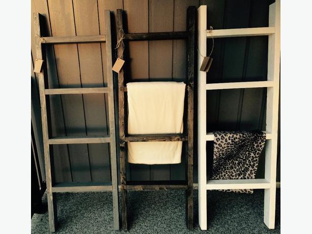 Rustic Blanket Ladders