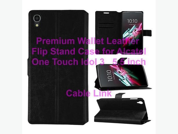 Wallet Flip Leather Case for Alcatel One Touch Idol 3 5.5 inch
