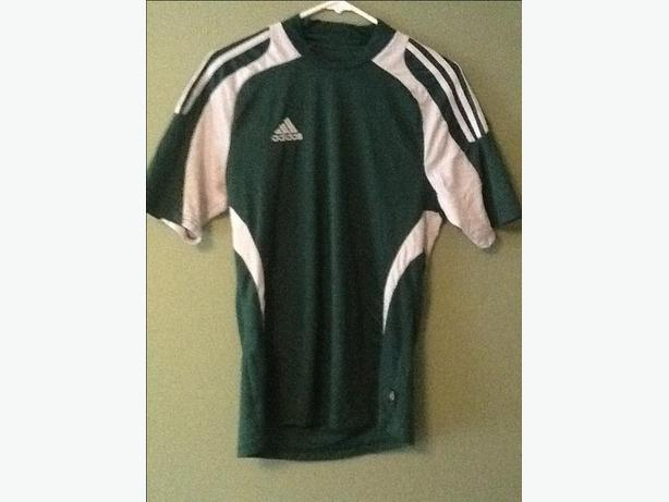 Adidas Green and White Soccer Jersey Size S