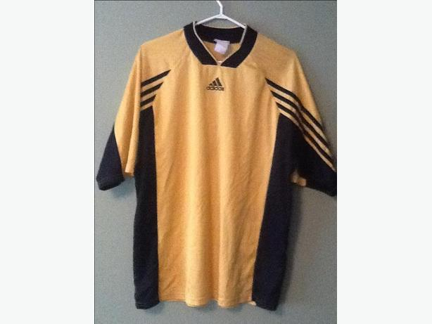 Adidas Yellow and Black Soccer Jersey size M